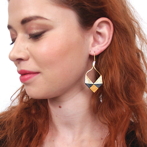 Boucles d'Oreilles Petits Triangles - Or (Moutarde)