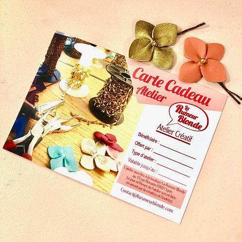 Carte Cadeau Atelier Boucles d'oreilles