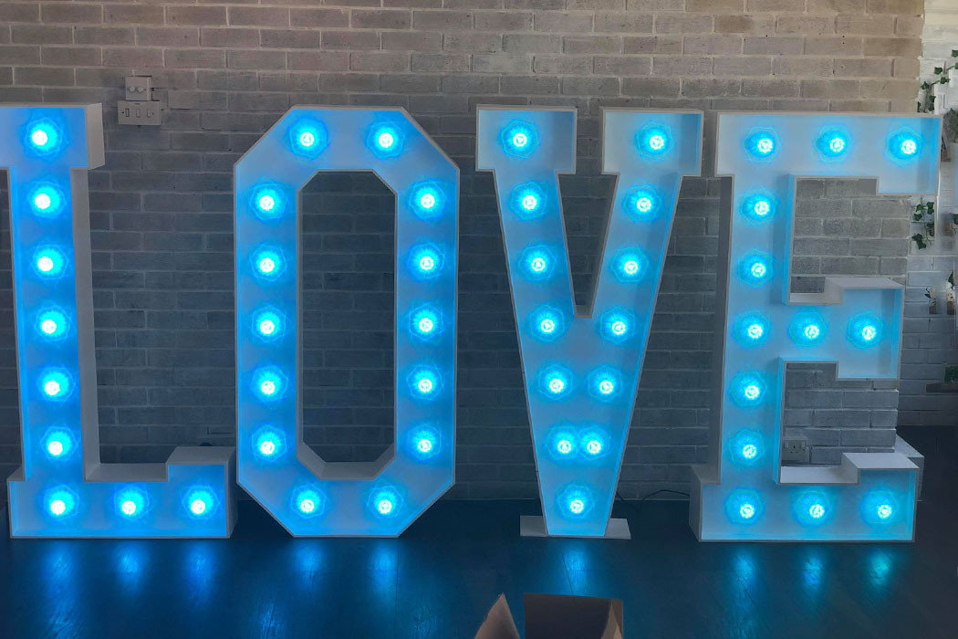 Light Up 'Love' Lights