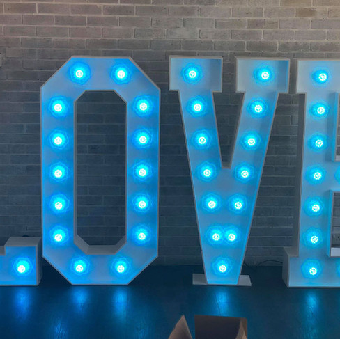 Light Up 'Love' Lights