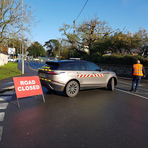 Sims Provides TMCE Road Closure Traffic Marshalls & Escort Vehicle For Remembrance Sunday Event