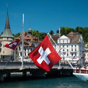 Lucerne Swiss Flag