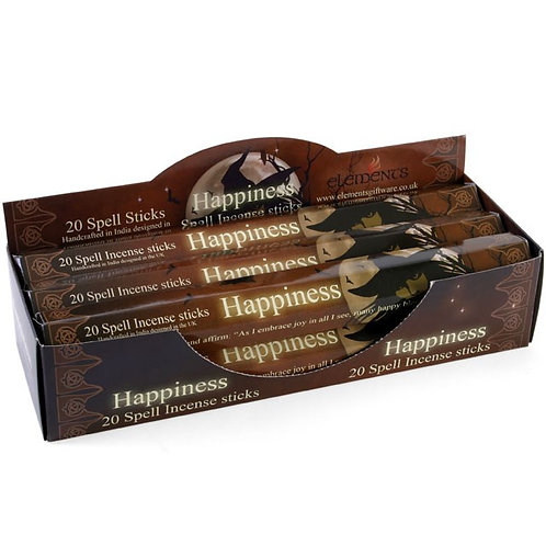 6 PACKS OF HAPPINESS SPELL INCENSE STICKS BY LISA PARKER BEST SELLER