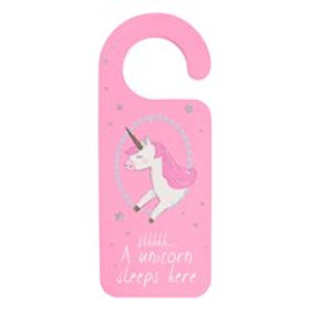 'Shh, A Unicorn Sleeps Here' Door Hanger