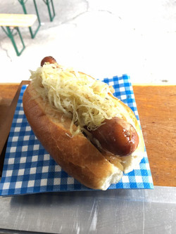 cheese kransky and sauerkraut!