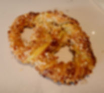 Custard almond pretzel