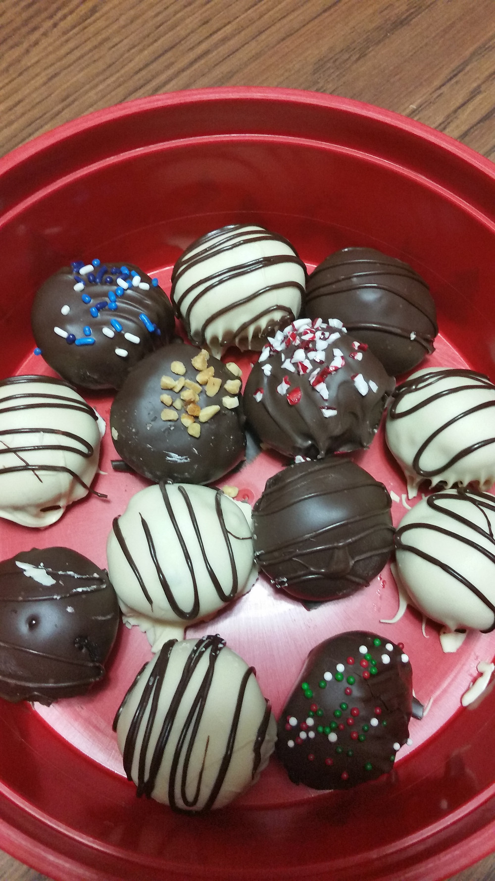 Oreo Cake Balls, Peppermint Truffles and Buckeyes