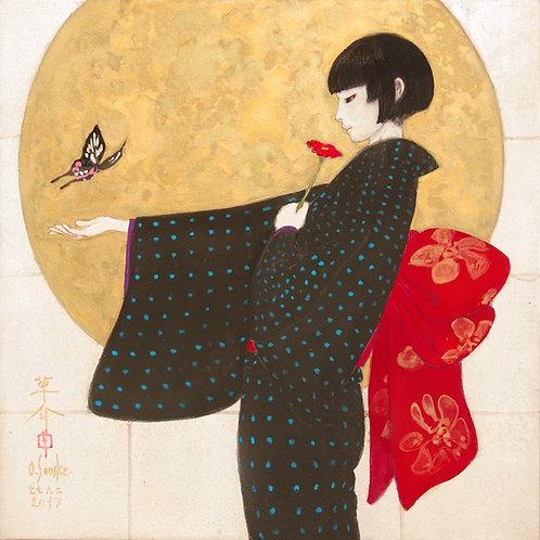 Japanese Painting [AGEHA SSM003] 肉筆日本画 「アゲハ SSM003」
