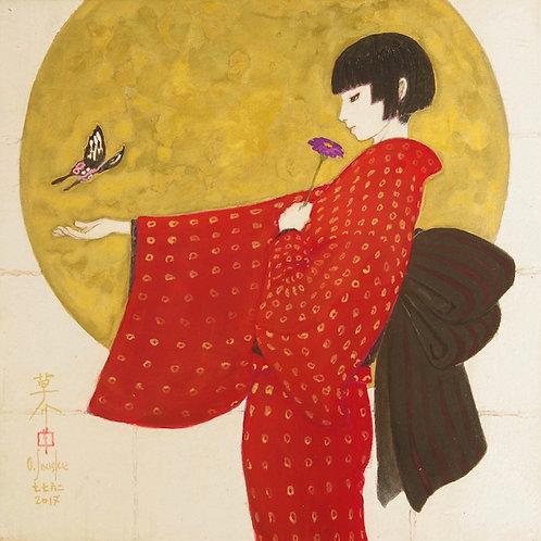Japanese painting [AGEHA SSM002] 肉筆日本画 「アゲハ SSM002」
