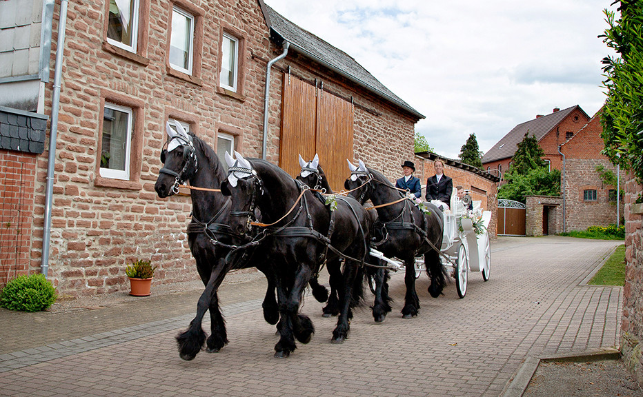 Hochzeit Vierspänner