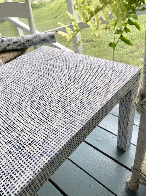 Custom Wallpapered Side Table