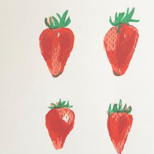 Strawberry Pop Art
