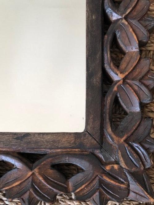 Antique Wood Cutout Mirror
