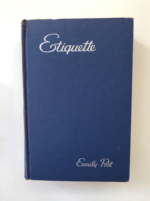 """Emily Post """"Etiquette"""" Book"""