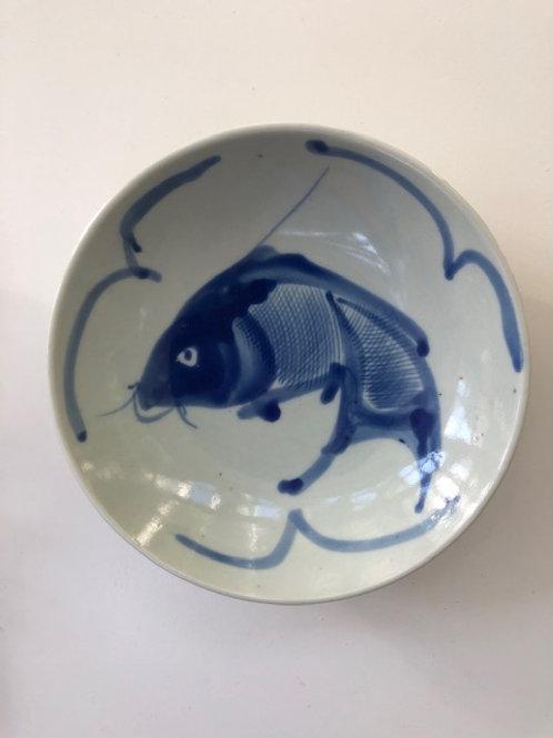 Blue & White Fish Bowl