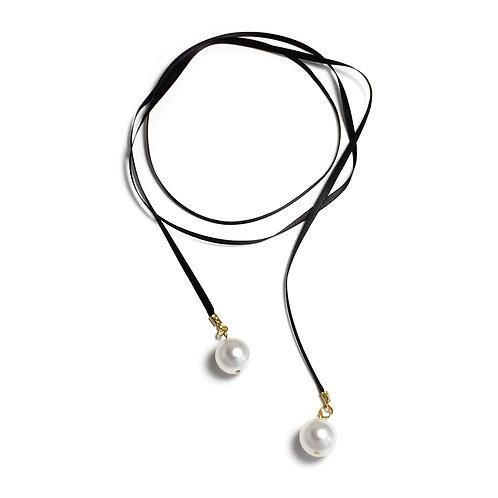 Mavia Satin Wrap-tie Necklace