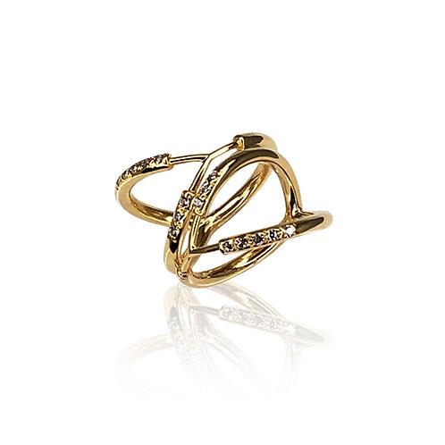 Trinitas II Pavé Ring | 18k gold