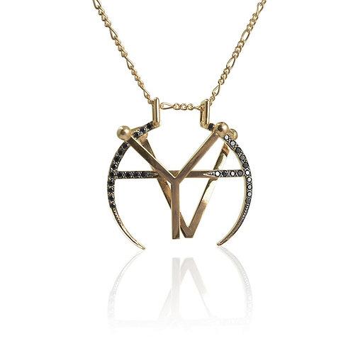 Monogram Medallion | Diamond Pavé