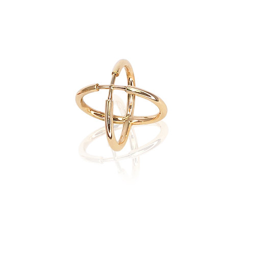 Saltire Ring | 18k gold