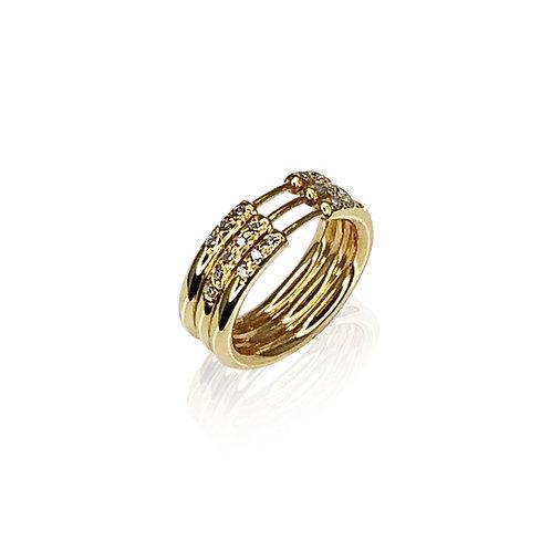 MultiHyphenate III Pavé Ring | 18k gold