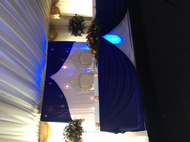 Headtable decorations