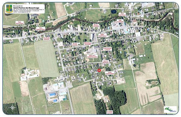 Jardins de Françoise - vue aérienne