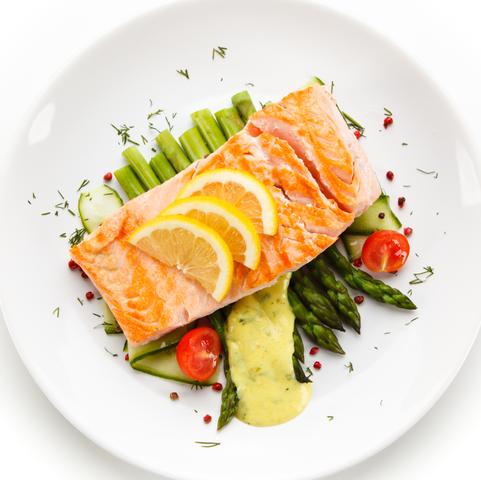 Grilled Salmon & Avocado