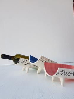 Santorini Serenity Wine Bottle Holders