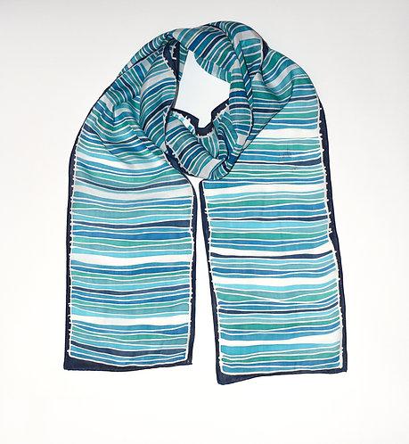 Turquoise Strata Scarf