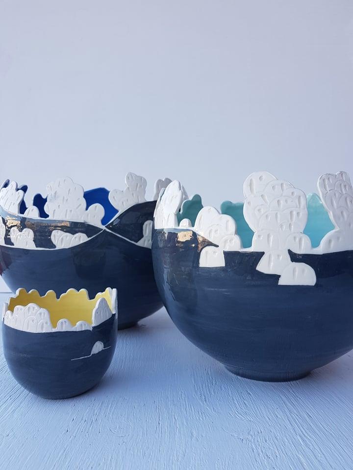 Santorini Caldera Bowls
