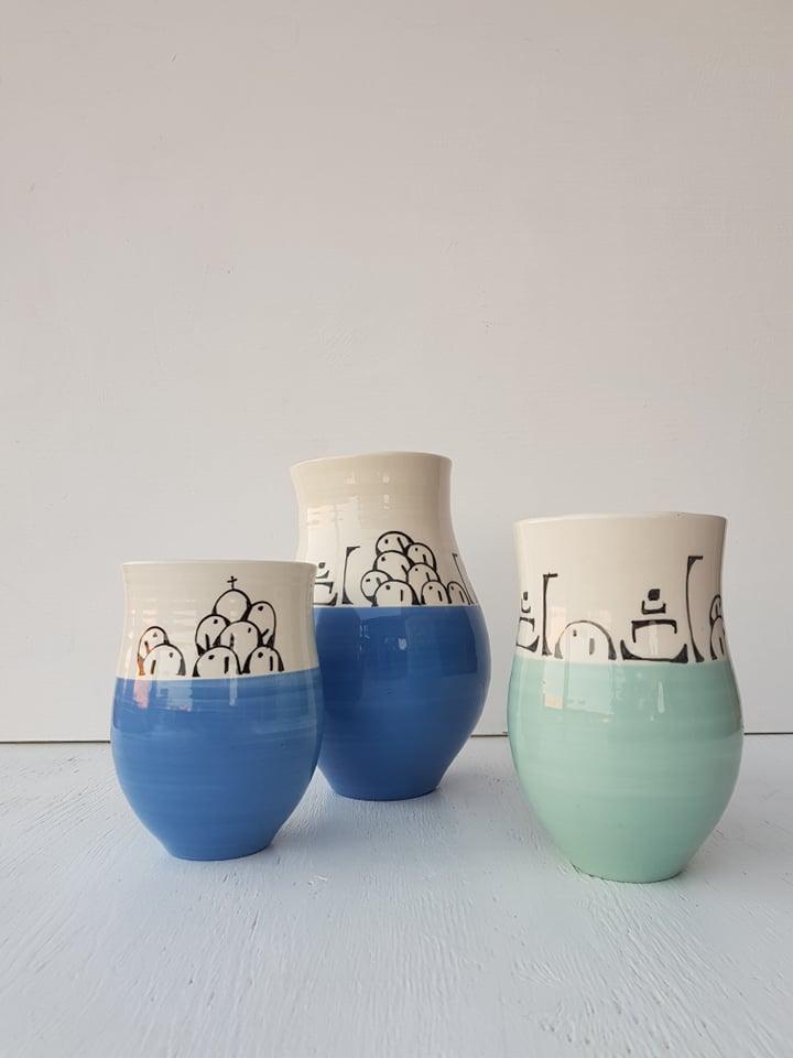 Santorini Serenity Vases