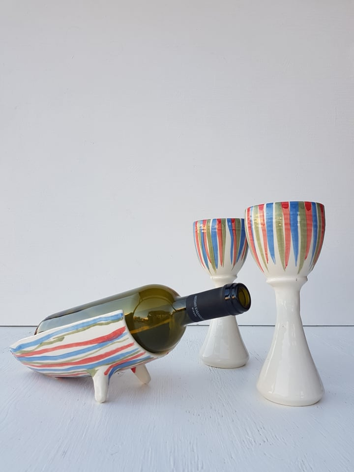 Striped Wine Set