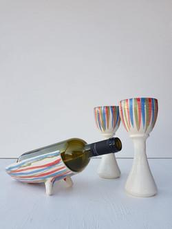 Striped Wine Set