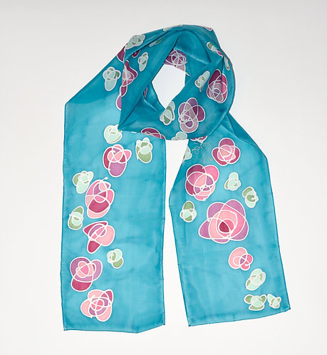 Turquoise Rose Scarf