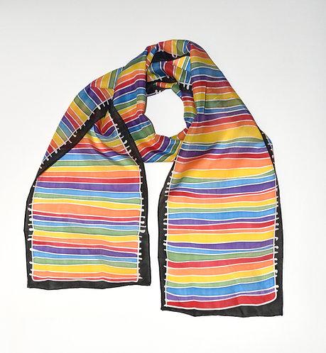 Rainbow Strata Scarf