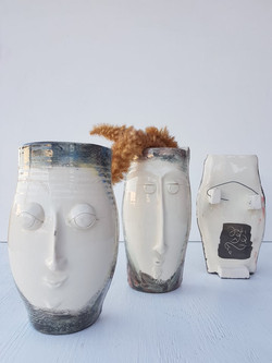 Hanging Face Vases