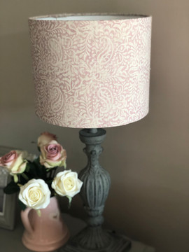 Bespoke lampshade to complement a window scheme