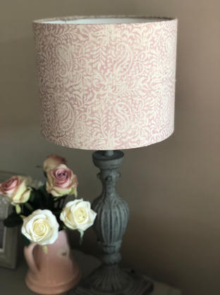 Bespoke lampshade to compliment a window scheme