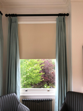 Floor length curtains in a fabric by Warwick