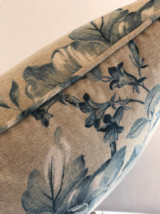 Piping on a cushion gives a lovely finished result and can be made in the main fabric or a contrasting fabric and colour