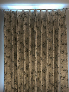 Pretty Laura Ashley fabric double pleat curtains.