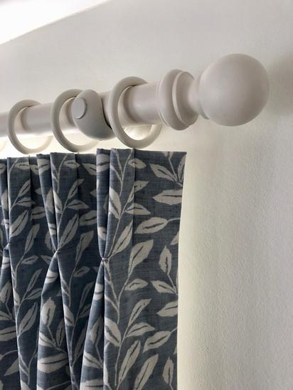 Wooden curtain pole from Hallis & Hudson