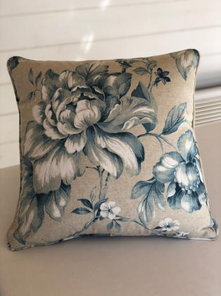 Cushions can be made in your choice of fabric. This one is made in Grenada by Chatsworth