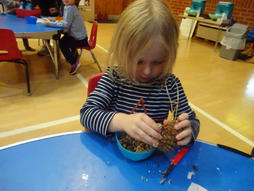 Making bird feeders | Chiddingfold Village Nursery, Nursery near Godalming