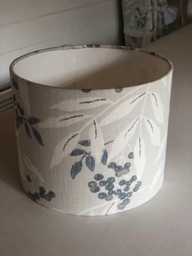 Lampshade made up in Laura Ashley fabric to match some curtains and bringing a room scheme together.