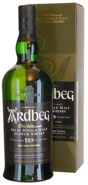 Ardbeg Islay Single Malt Scotch Whisky TEN