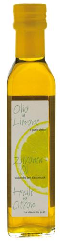 Olivenöl gewürzt mit Zitrone