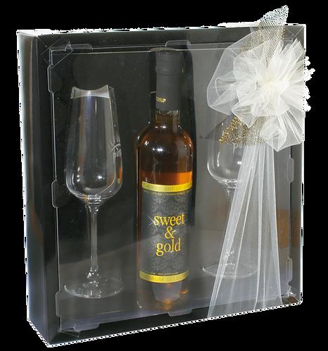 Puris-Sirup Gold & Sweet 5dl mit zwei Gläsern