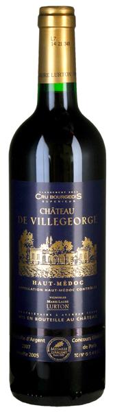 Château deVillegeorge, Haut-Médoc AC cru bourgeois sup 2005