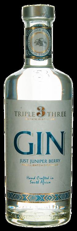 GIN Triple Three Just Juniper Barry Blaauwklippen-Destillerie